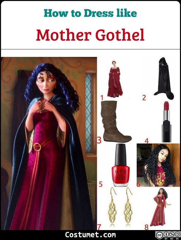 NEW Rapunzel Tangled Princess Mother Gothel Dress Made Cosplay Cos