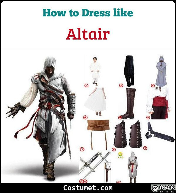 Altair Ibn La Ahad Assassins Creed Costume