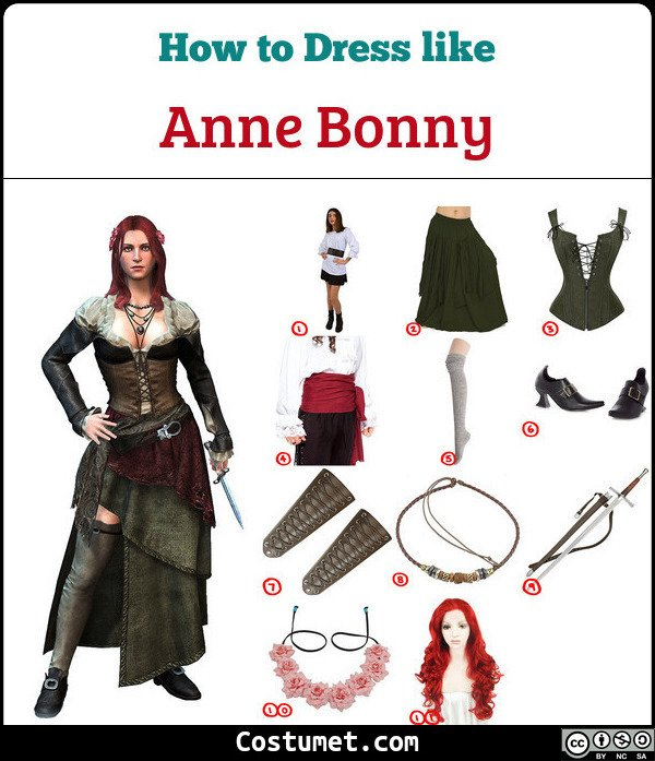 Anne Bonny Costume for Cosplay & Halloween
