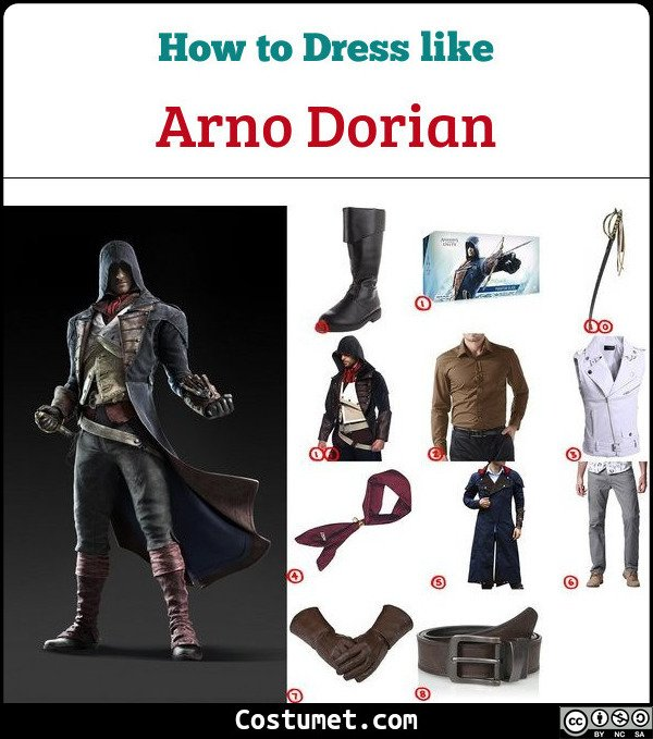 Arno Dorian Assassin S Creed Unity Costume For Cosplay