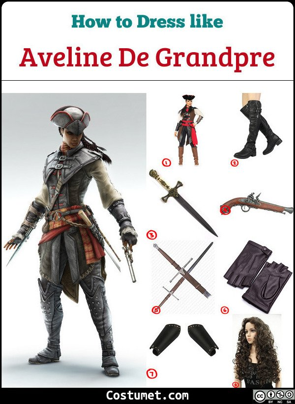 Aveline De Grandpre Costume for Cosplay & Halloween