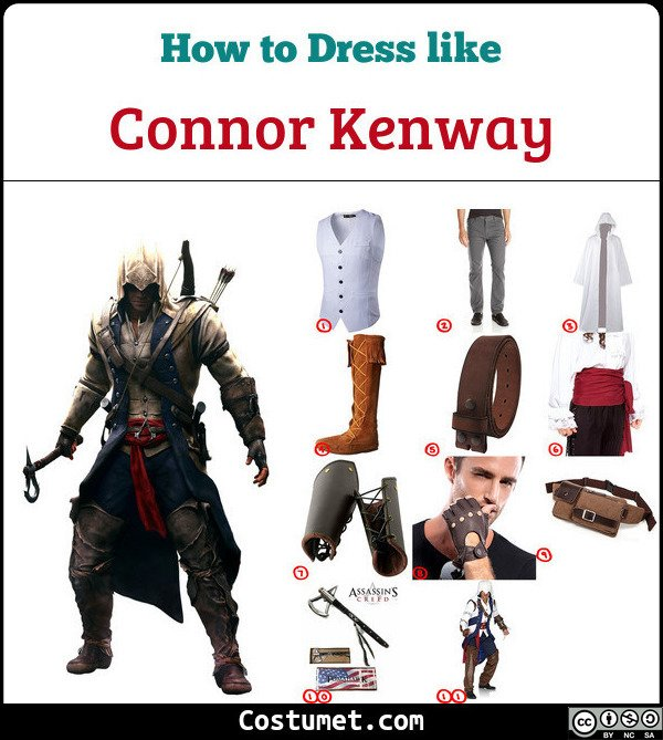 Connor Kenway Assassins Creed Costume For Cosplay Halloween 2020