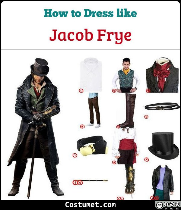 Jacob Frye Assassins Creed Syndicate Costume For Cosplay