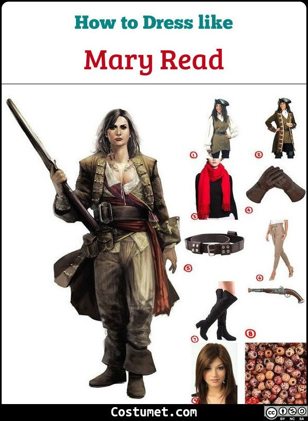 Mary Read Costume for Cosplay & Halloween