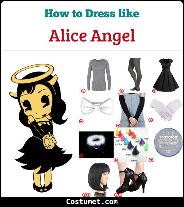Alice Angel Costume for Cosplay & Halloween