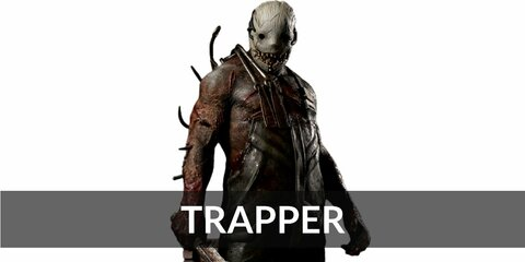 The Trapper's costume is a dirty white tank top, overalls, boots, and a creepy white mask.  The Trapper is a big, hulking man who loves trapping his victims.