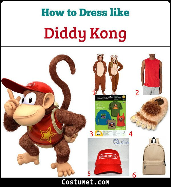 Diddy Kong Costume for Cosplay & Halloween