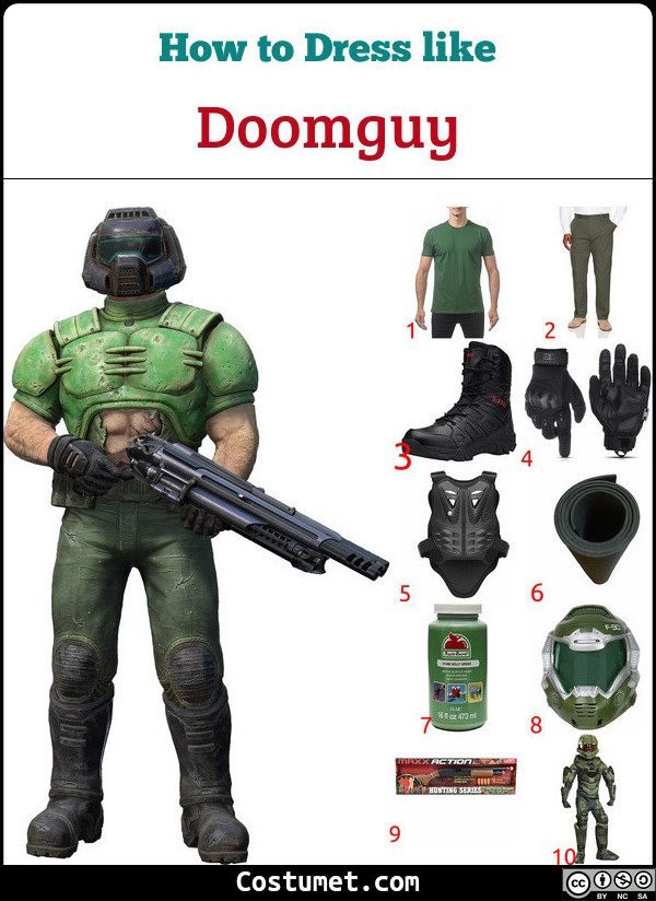 Doom Costume for Cosplay & Halloween