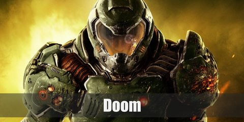 Doomguy costumes has different variations over the years. But you might want to look like his original form. If so, you will need a tight green shirt, olive green pants, and armor.
