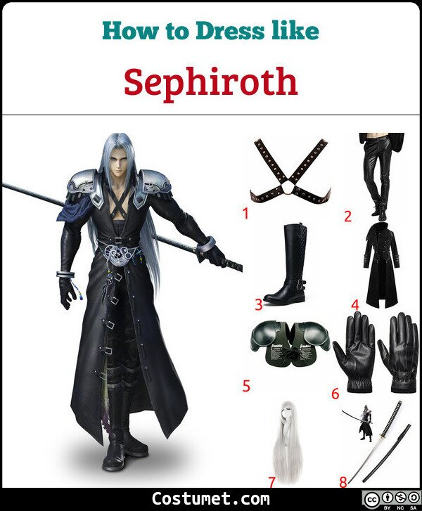 Sephiroth Costume for Cosplay & Halloween