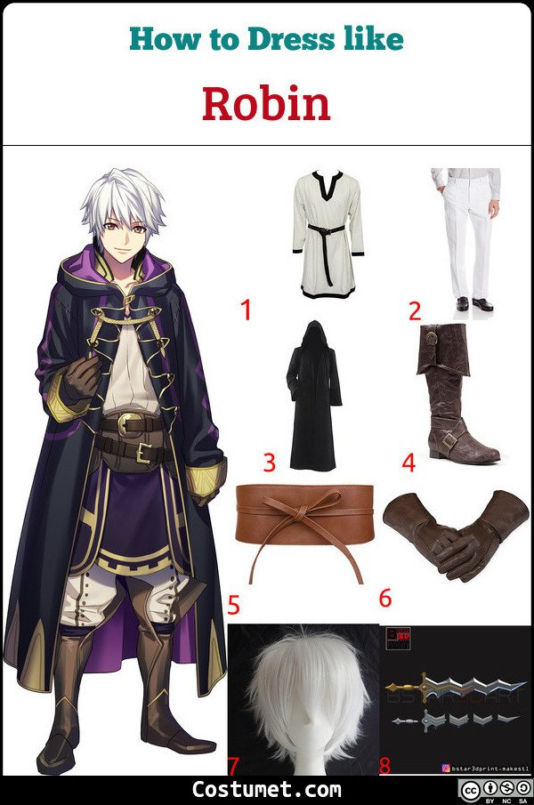 Robin Costume for Cosplay & Halloween