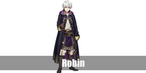 Robin costume is his tactician's robes which is composed of white tunic, white pants, and a black hooded cloak.