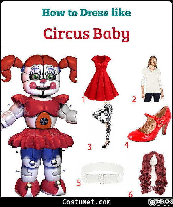 Circus Baby Costume for Cosplay & Halloween