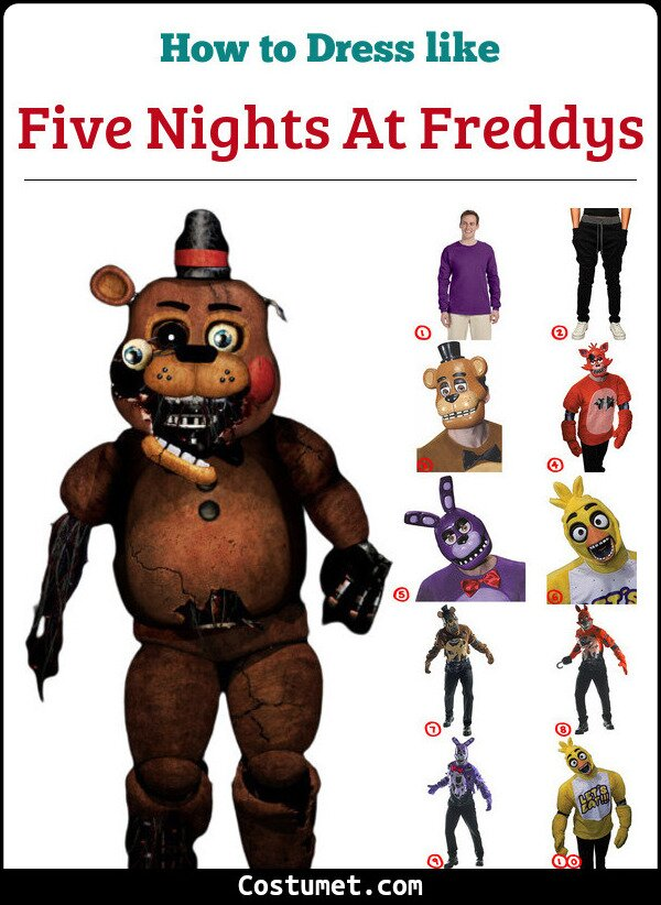Five Nights At Freddys Costume for Cosplay & Halloween