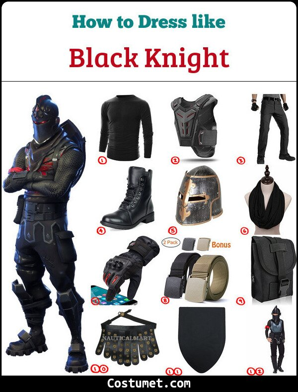 Black Knight Costume for Cosplay & Halloween
