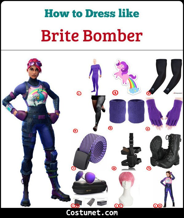 Brite Bomber Costume for Cosplay & Halloween