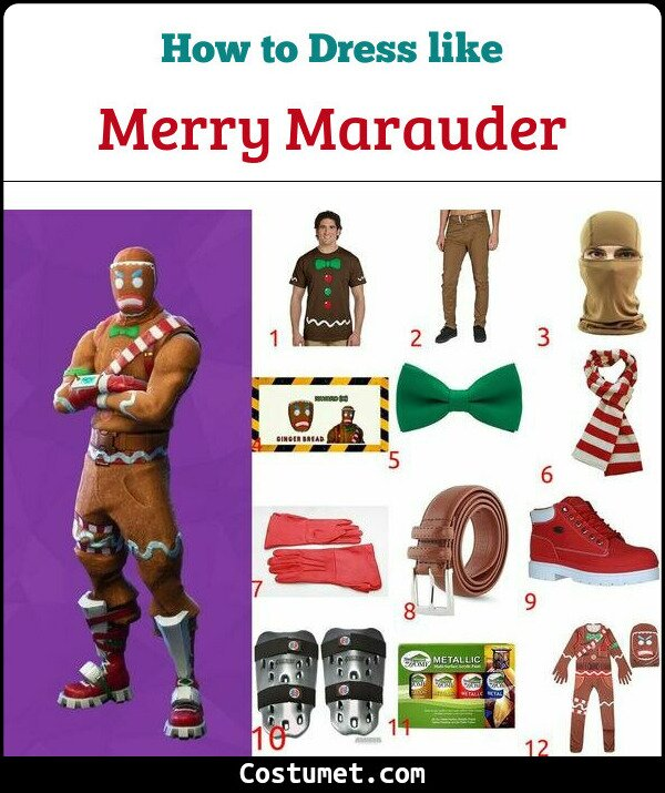 how to make merry marauder gingerbread man costume from fortnite - gingerbread costume fortnite
