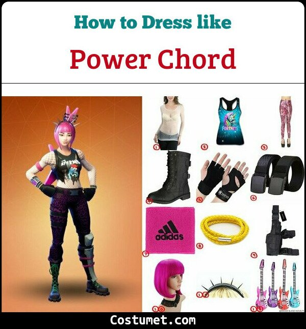 Power Chord Costume for Cosplay & Halloween