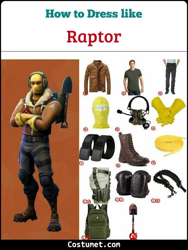Fortnite Halloween Costumes 2019.Raptor Fortnite Costume For Halloween 2019