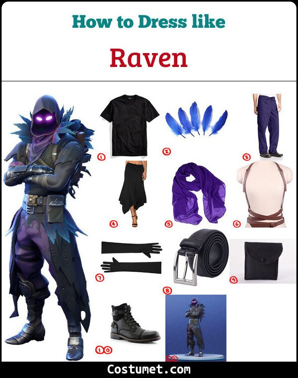 Raven Costume for Cosplay & Halloween
