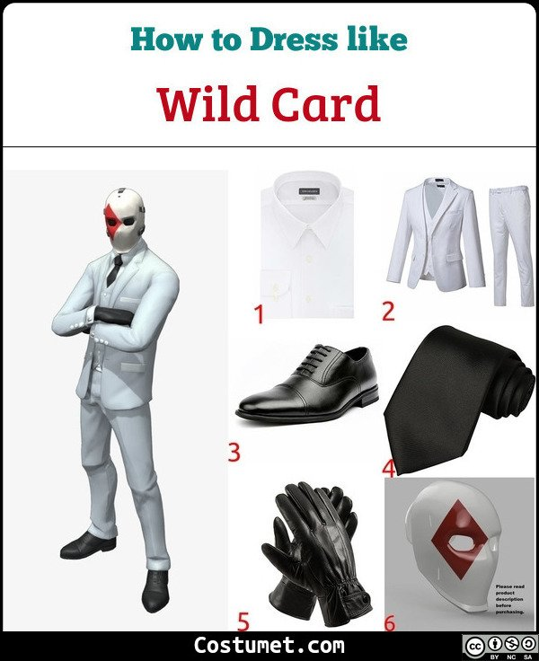 Wild Card Costume for Cosplay & Halloween