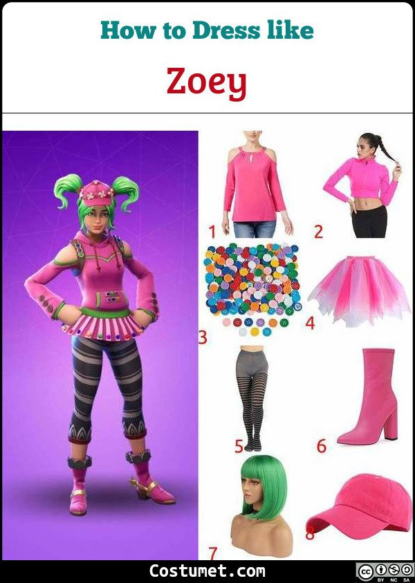 Zoey Costume for Cosplay & Halloween