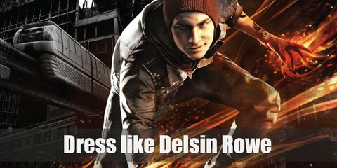 Delsin dresses like a regular young guy who has a penchant for street art. He wears a red plaid shirt underneath a black hoodie which in turn is underneath a cool-looking denim vest. He also likes putting a red beanie on top of his head.