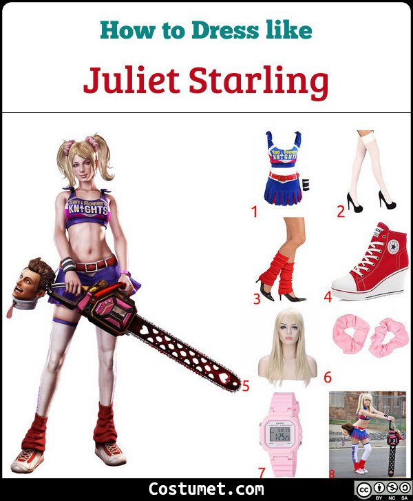 Juliet Starling, Lollipop Chainsaw Costume for Cosplay & Halloween
