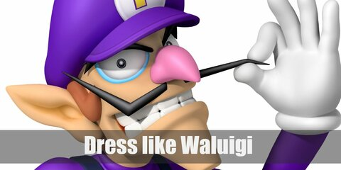 Waluigi prefers the color purple. Waluigi wears a purple sweater, blue overalls, brown boots, a purple cap, and white gloves.