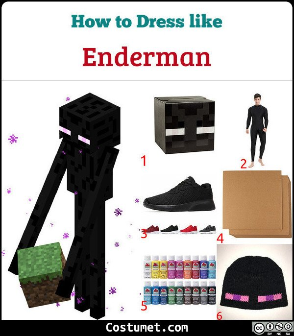 Enderman Costume for Cosplay & Halloween