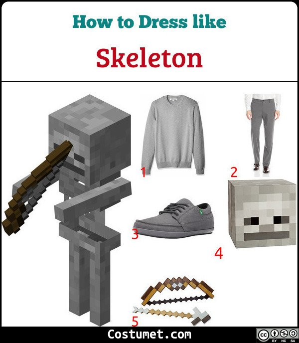 Skeleton Costume for Cosplay & Halloween