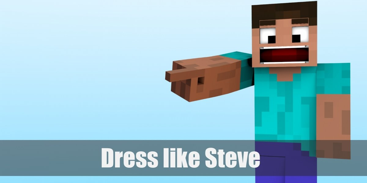 Steve Minecraft Costume For Cosplay Halloween 2020