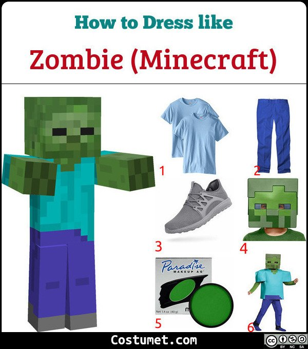 Zombie Costume for Cosplay & Halloween