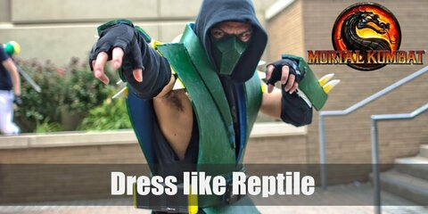 Reptile is unquestioningly loyal to those he serves and he makes the best kind of minion since he doesn't have an ambitious bone to his body. Reptile's appearance now is a humanoid creature with reptilian skin but when he was first introduced, he simply looked like a green garbed ninja wearing a green mask.