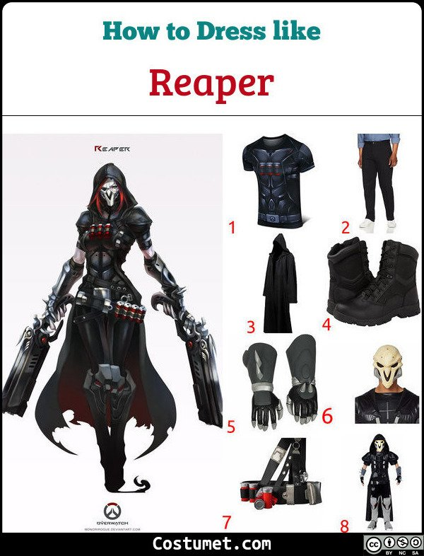 Reaper Costume for Cosplay & Halloween
