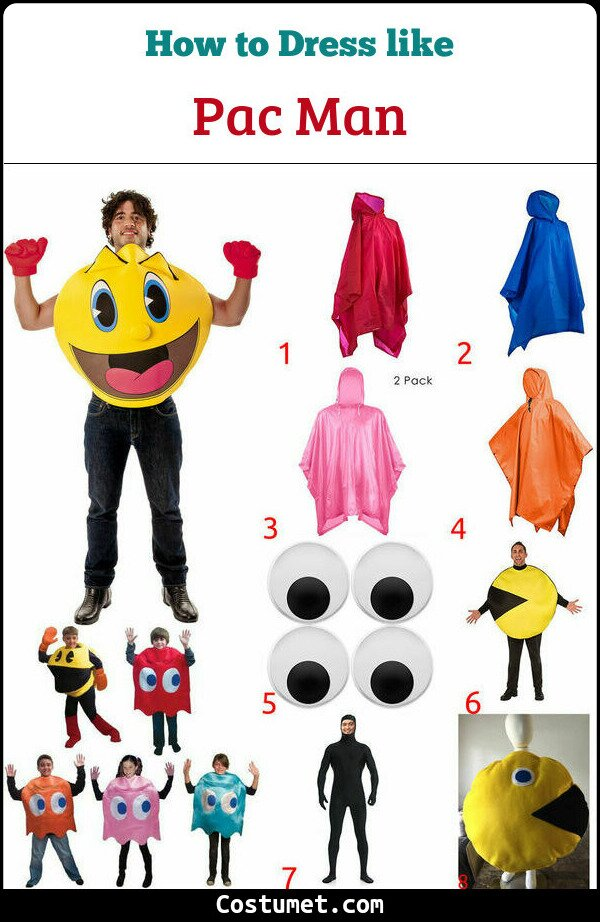 Pac Man Costume for Cosplay & Halloween