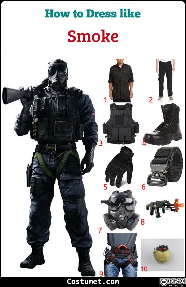 Smoke Costume for Cosplay & Halloween