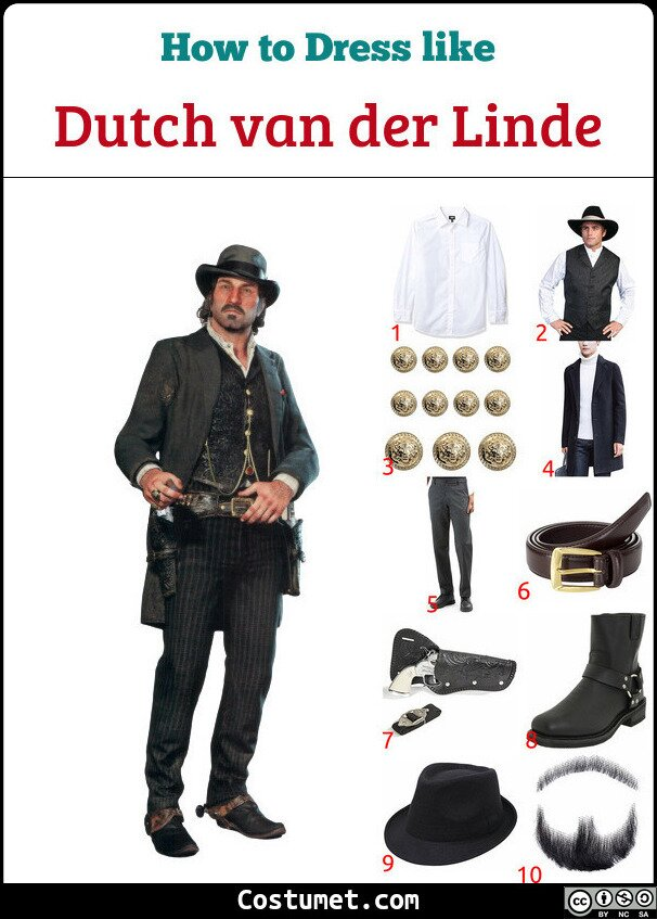 Dutch van der Linde Costume for Cosplay & Halloween