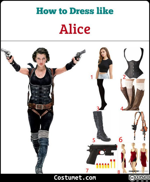 Alice Resident Evil Costume For Cosplay Halloween 2020