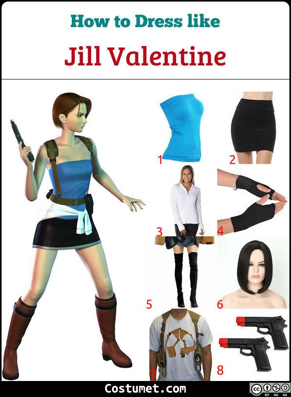 Jill Valentine Costume for Cosplay & Halloween