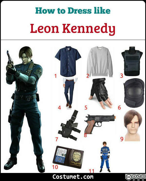Leon Kennedy Costume for Cosplay & Halloween