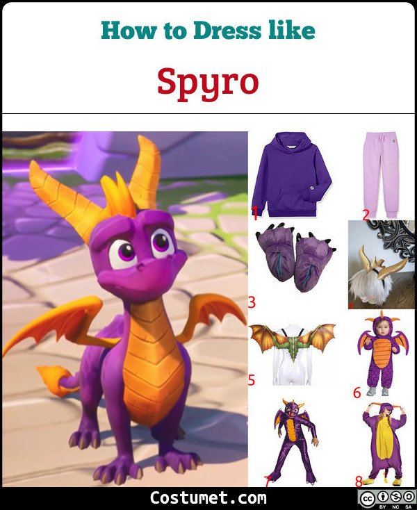 Spyro Costume for Cosplay & Halloween