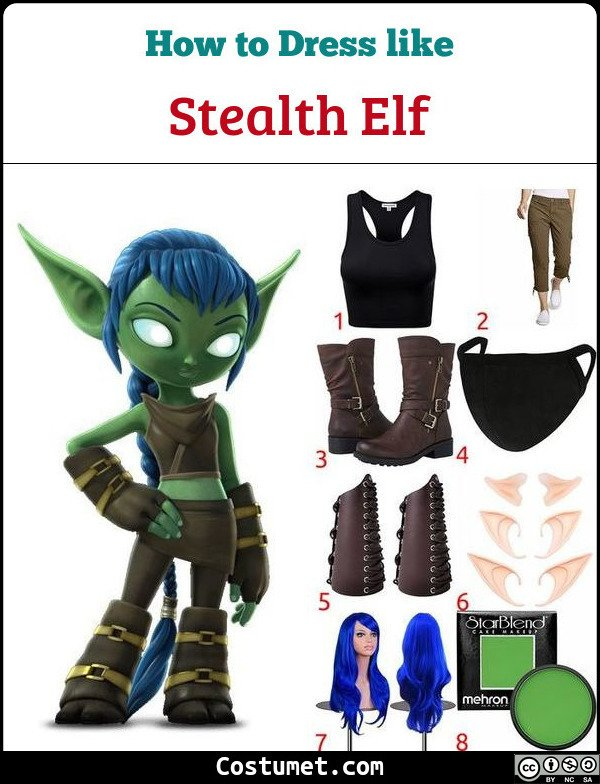Stealth Elf Costume for Cosplay & Halloween