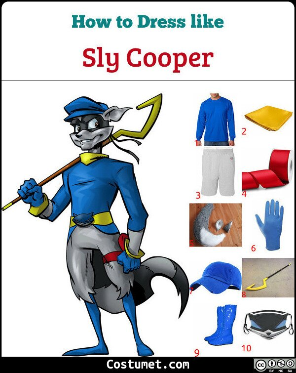Sly Cooper Costume for Cosplay & Halloween