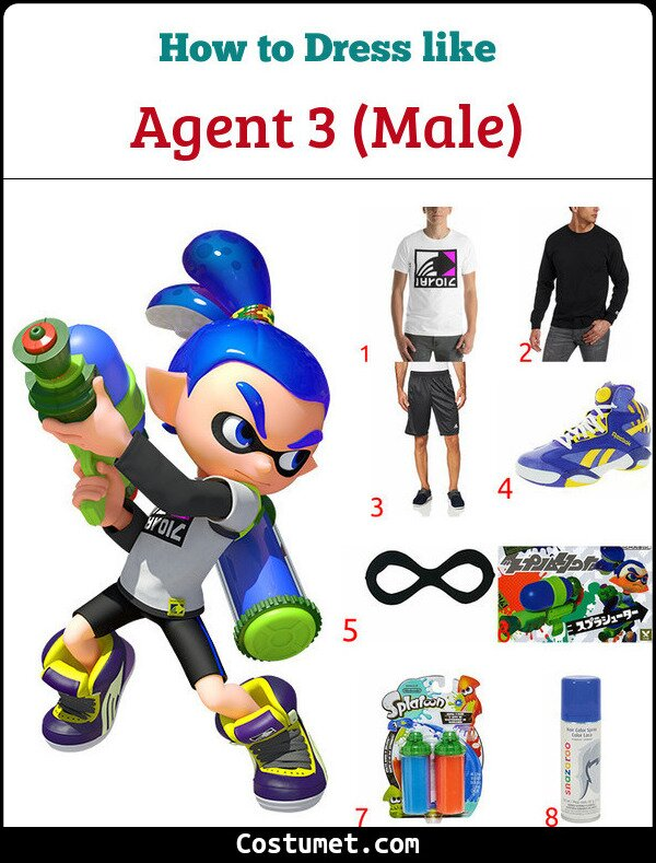 Splatoon Inkling Boy & Girl Costume for Cosplay & Halloween