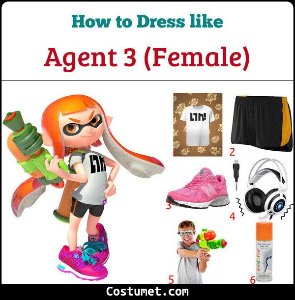 Agent 3 (Female) Costume for Cosplay & Halloween