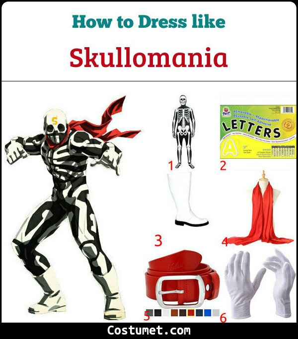 Skullomania Costume for Cosplay & Halloween