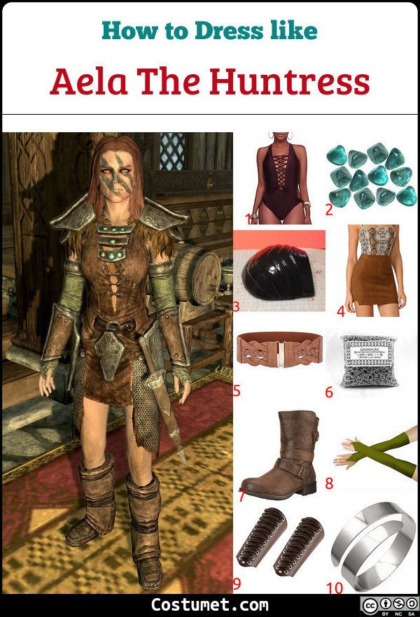 Aela The Huntress Costume for Cosplay & Halloween