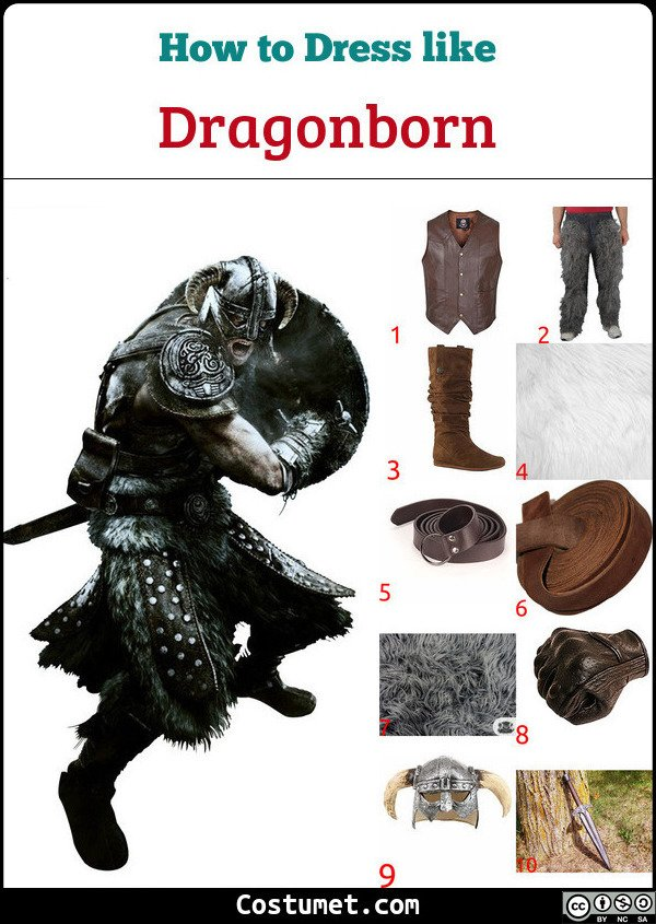 Dragonborn Costume for Cosplay & Halloween