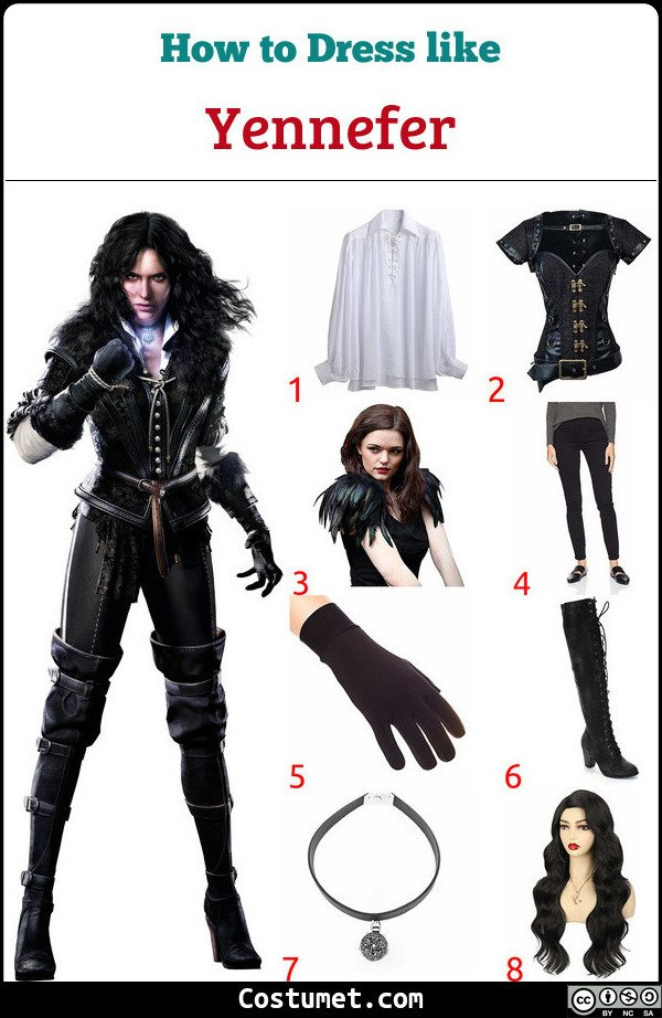 Yennefer Costume for Cosplay & Halloween